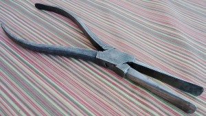 Late 19th century duckbill pliers, made in Germany.