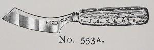Felt knife, J. & J. Goddard c.1920.