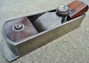"Larger 8"" Popping mitre plane, with l. Bailey lever cap screw. Formerly from David Russel collection."