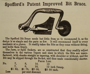Spofford brace, as it appeared in the 1867 A.J. Wilkinson & Co., Boston hardware catalogue.