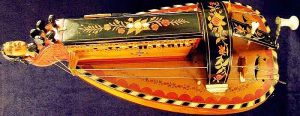 Hurdy Gurdy made by Pajot, Allier, France. Circa 1880s. Photo from http://www.music-treasures.com/antmisc.htm